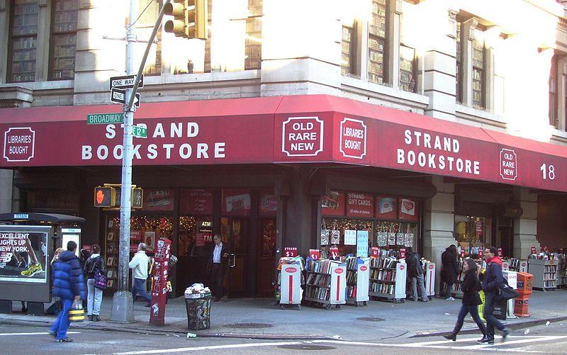 strand bookstore, new york city