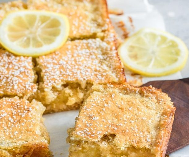 lemon bars with refrigerated cookie dough