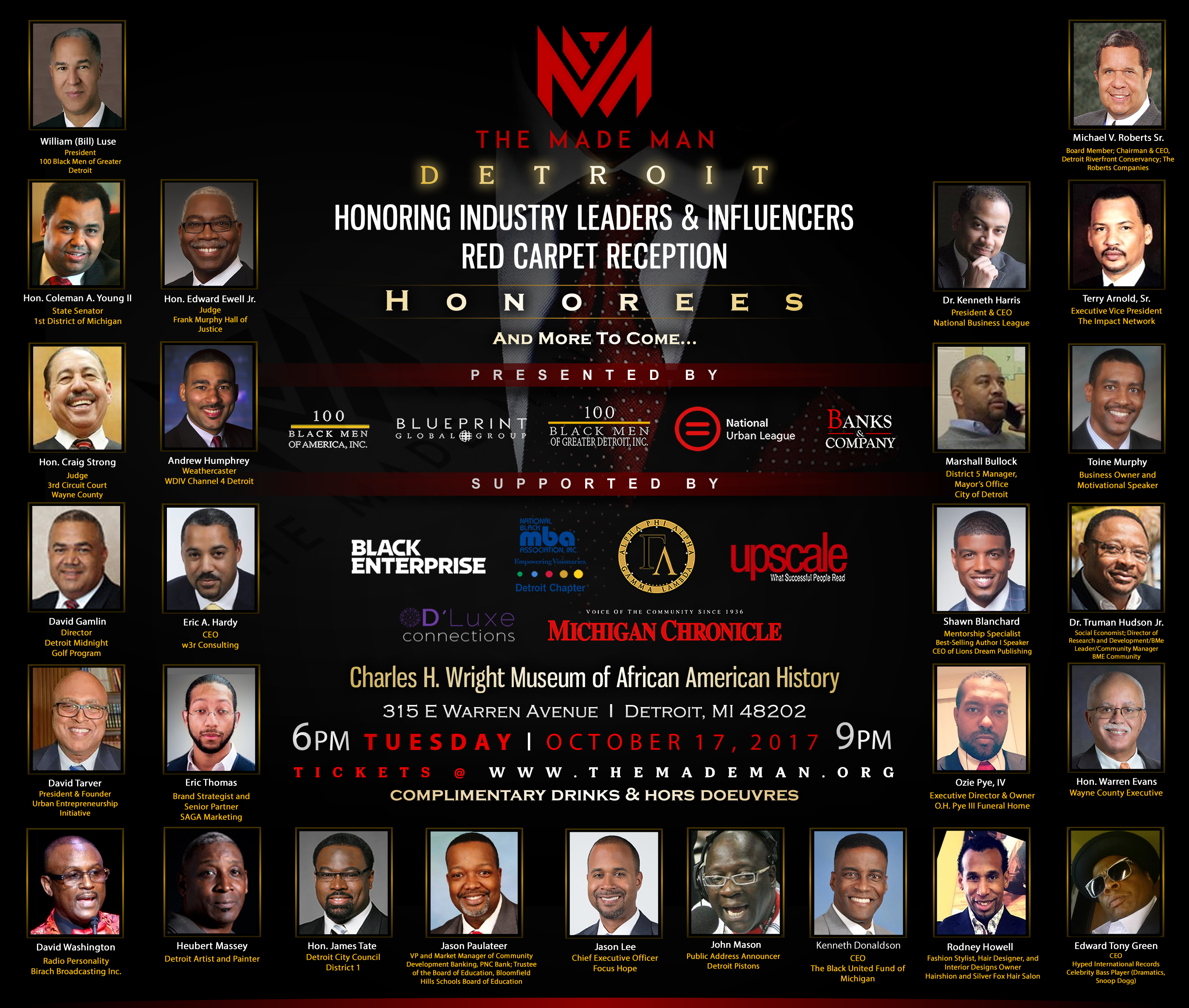 The Made Man - Detroit Honorees Flyer