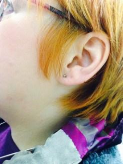 Jan 22nd - I got my ears re-pierced