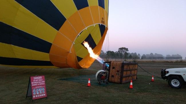 balloon ride in Ipswich