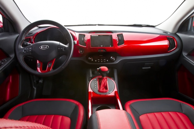 Wonder Woman Kia interior