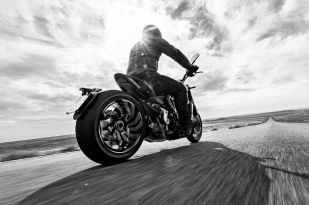 Ducati XDiavel riding rear