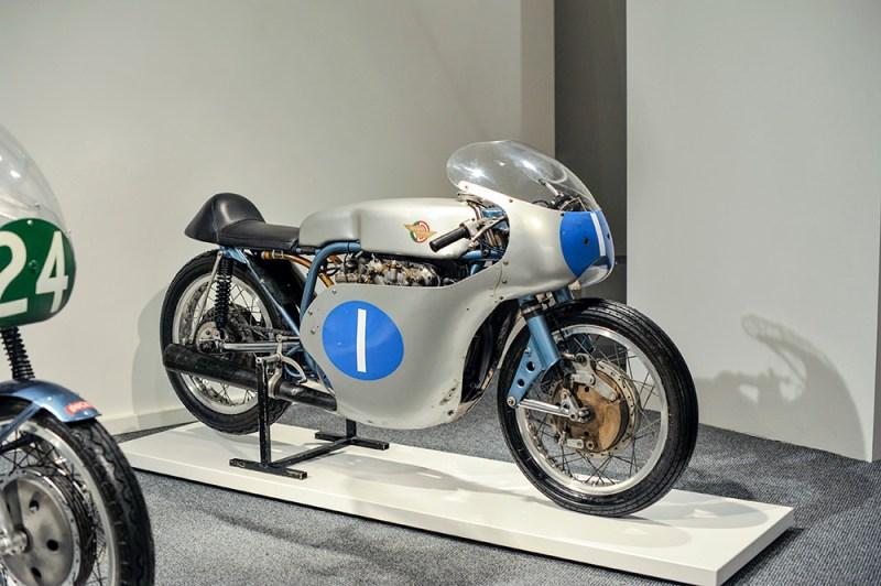 Ducati Desmo 350 on display