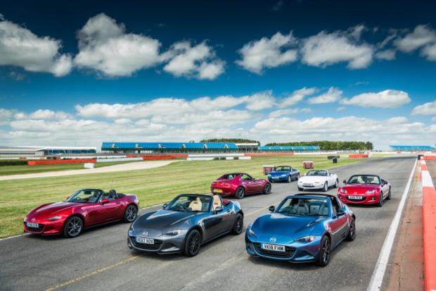 Mazda MX-5 history lined up