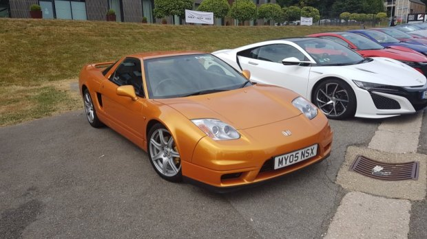 First generation Honda NSX orange
