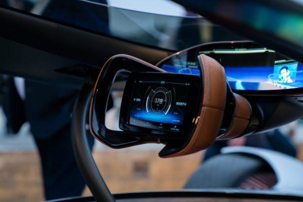 Mercedes-Benz Vision EQ Silver Arrow steering wheel