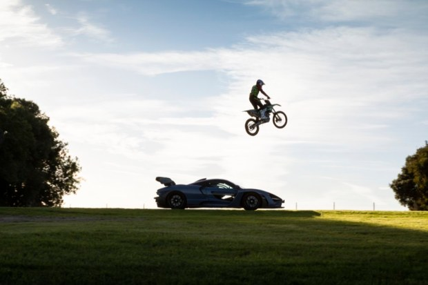 Motocross bike jumping McLaren Senna