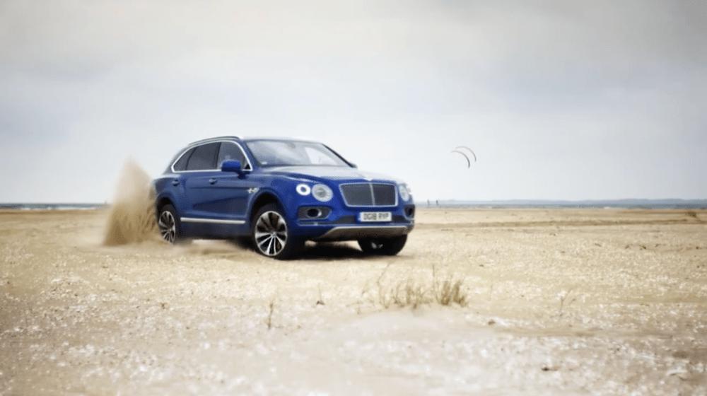 Bentley Bentayga on sand
