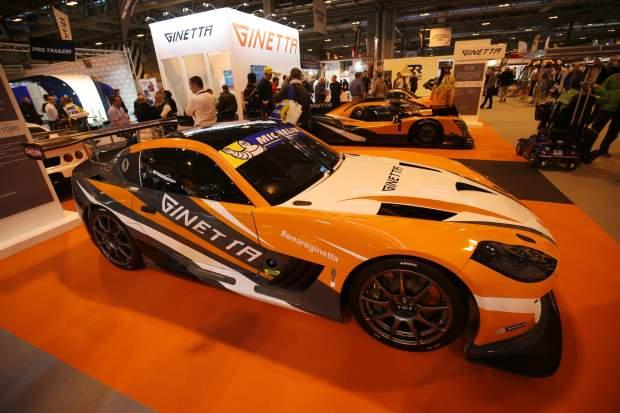 Ginetta car on display
