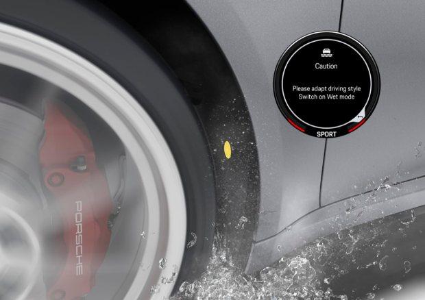 Graphic showing Porsche wet mode