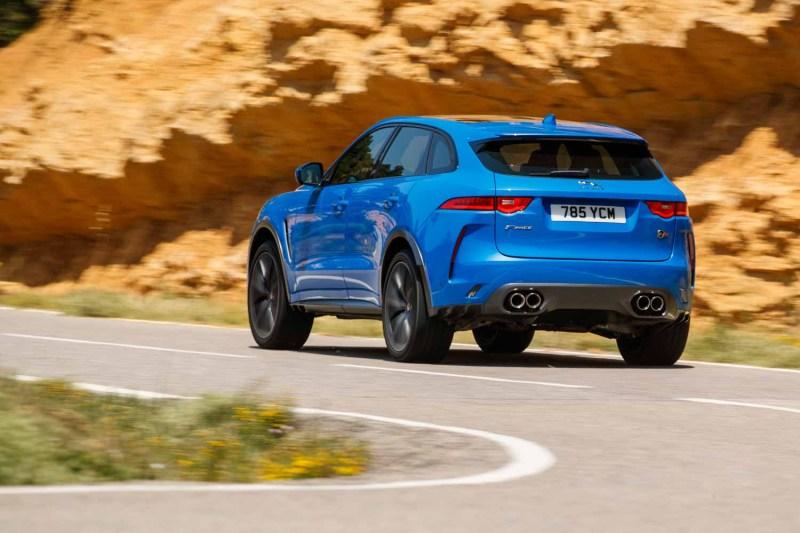 Jaguar F-Pace SVR rear