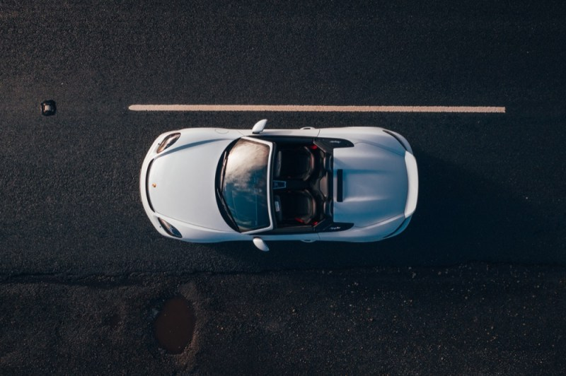 Porsche 718 Boxster Spyder overhead