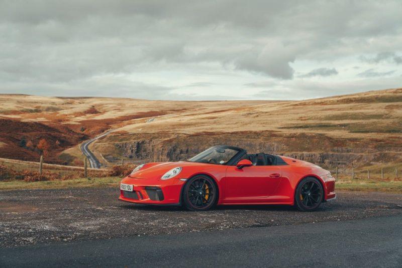 Porsche 911 Speedster parked