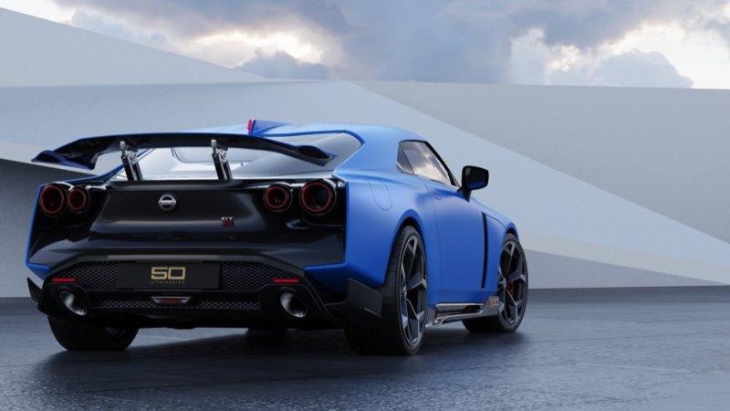 Nissan GT-R50 by Italdesign rear blue