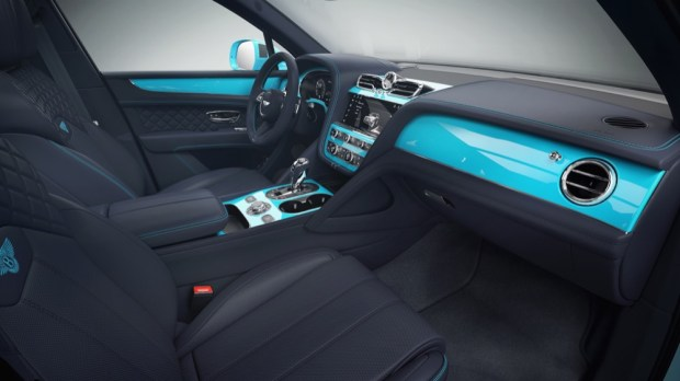 Mulliner Personal Commissioning Guide teal interior