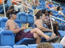 The knitter at the US Open in New York