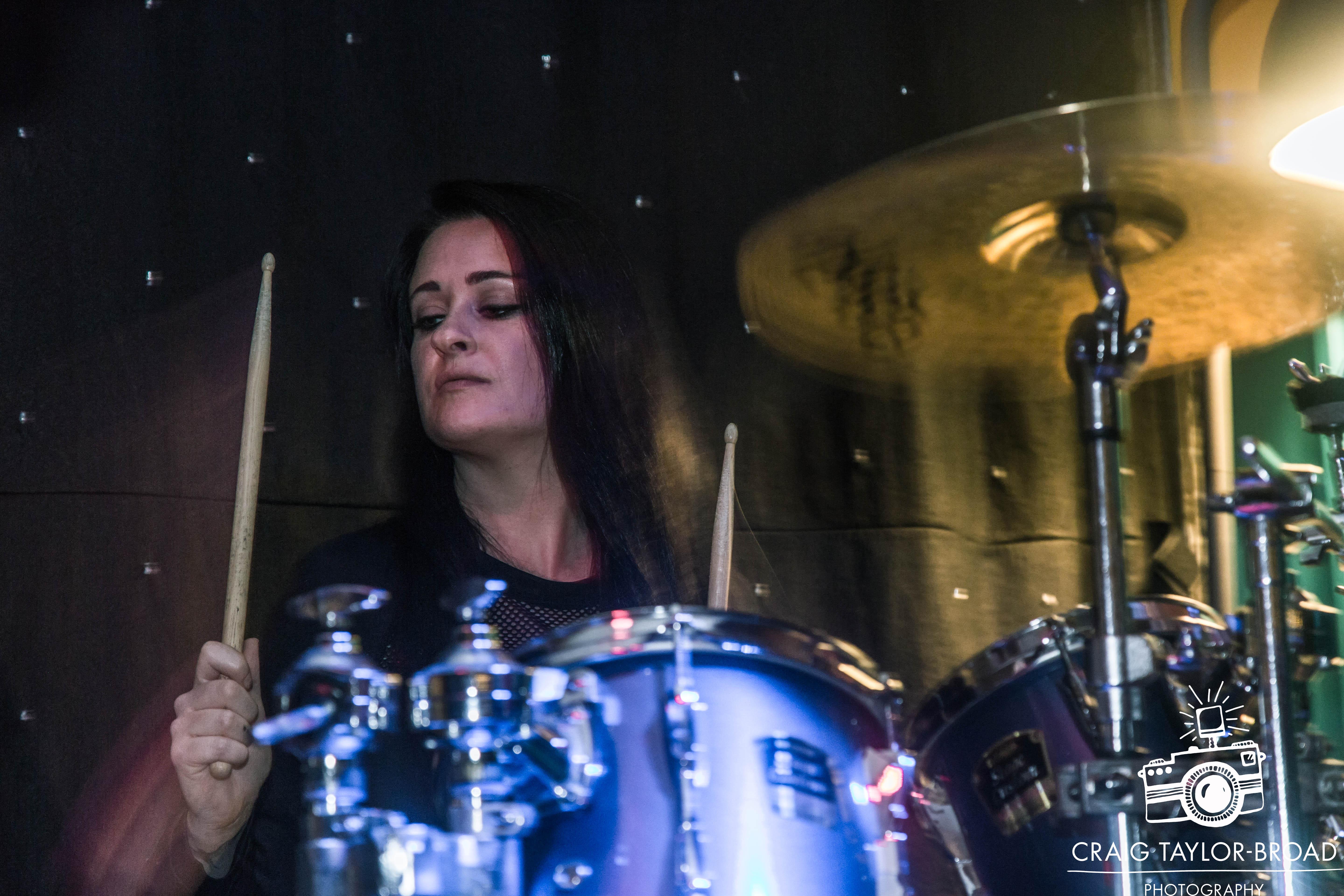 Emma Limn from 50 Year Storm playing Whiskers Newquay