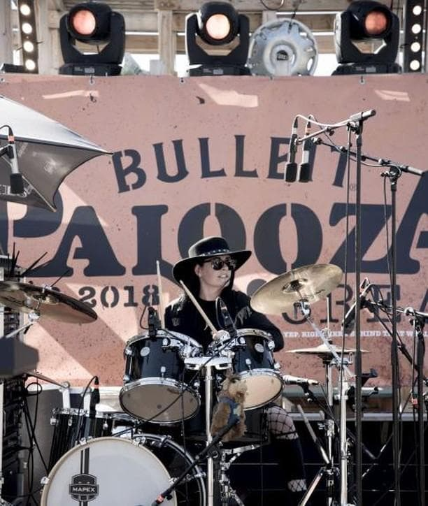 Emma from 50 Year Storm playing at Bulleit Palooza 2018