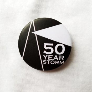 50 Year Storm pin badge