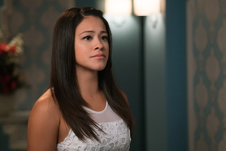 "Jane The Virgin -- ""Chapter Thirty-Nine"" -- Image Number: JAV217a_0094.jpg -- Pictured: Gina Rodriguez as Jane -- Photo: Michael Desmond/The CW -- © 2016 The CW Network, LLC. All rights reserved."