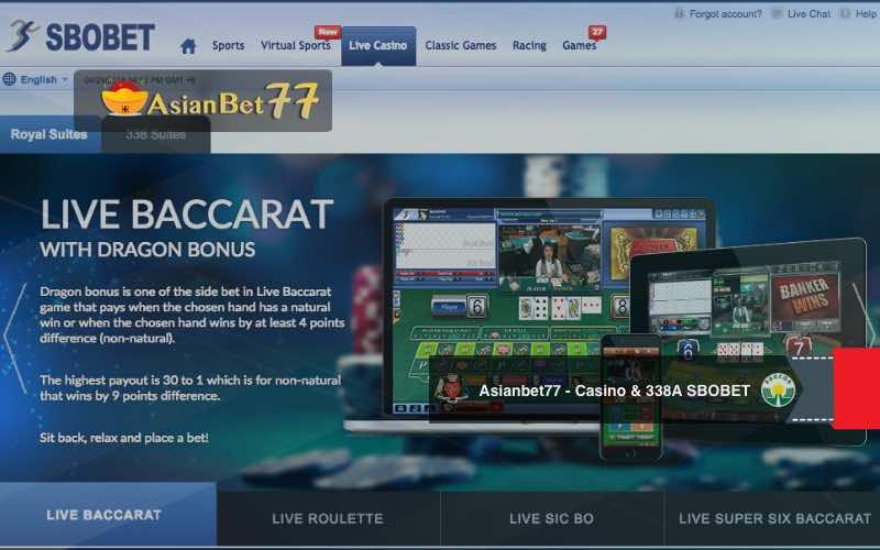 Bandar taruhan judi online Live Casino dan casino 338A SBOBET