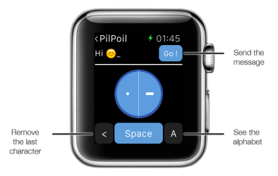 Support image Apple Watch 2 - eyeFree