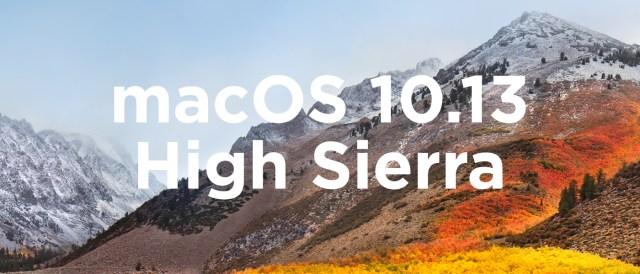 macOS 10.13 High Sierra