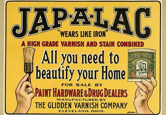 Old Advertising Poster for Jap-a-Lac.