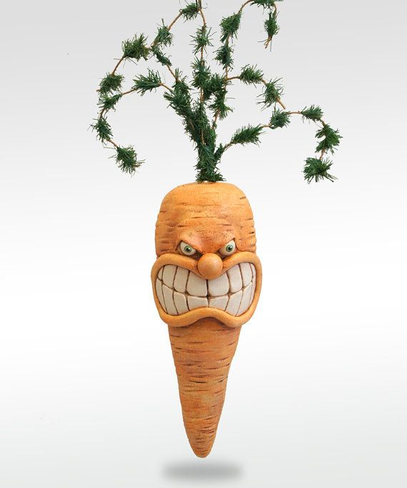 And angry carrot is showing it's teeth. to eat healthy means understanding your vegetables.