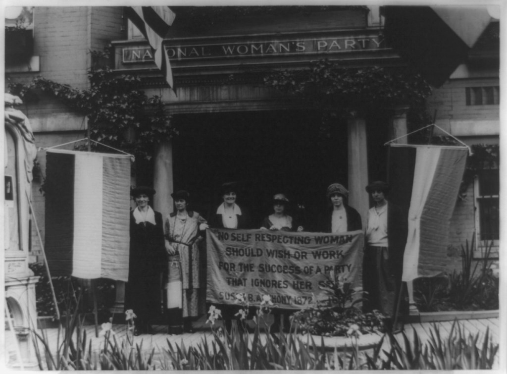 Picture of women's suffrage and the women's rights movement.