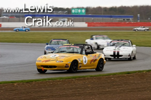 Carl Powell about to be lapped by the leaders - Luffield