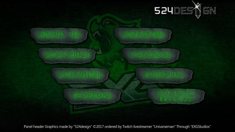 Univarseman Twitch Panels