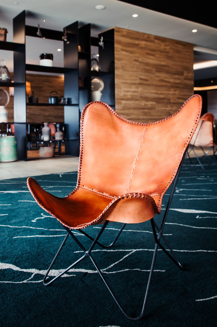 Chair and decor at Azor Hotel
