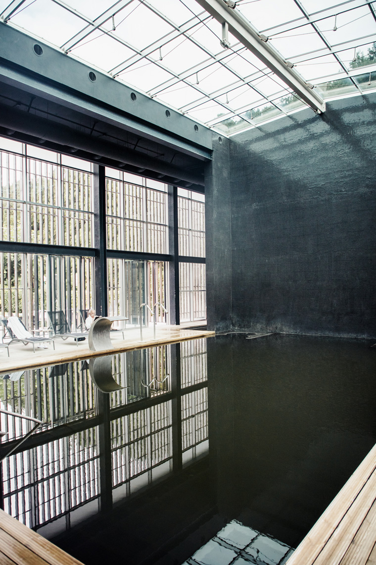 Indoor hot springs pool at Furnas Boutique Hotel