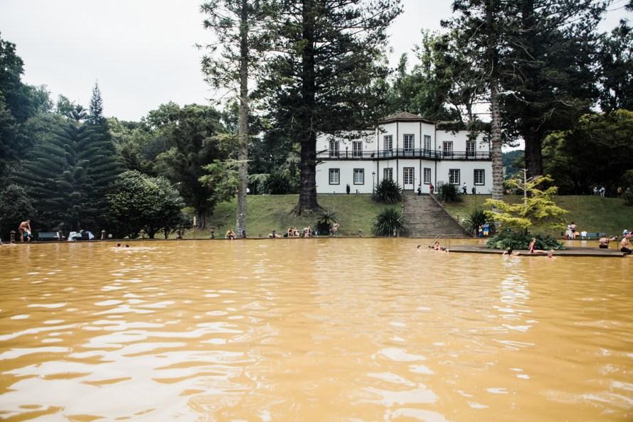 Orange hot springs pool