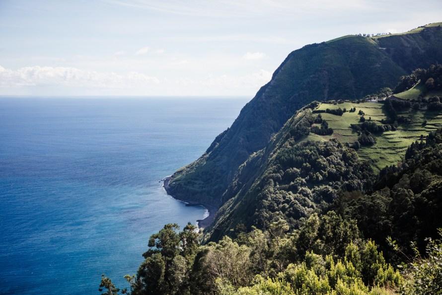 Green oceanside cliffs