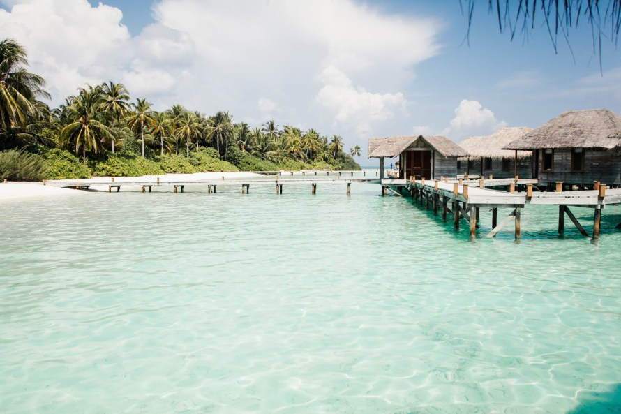 Overwater resort bungalows