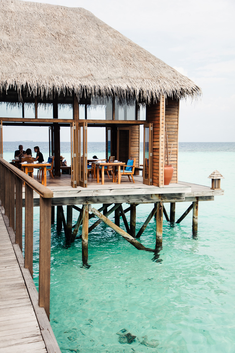 Restaurant on stilts over the water