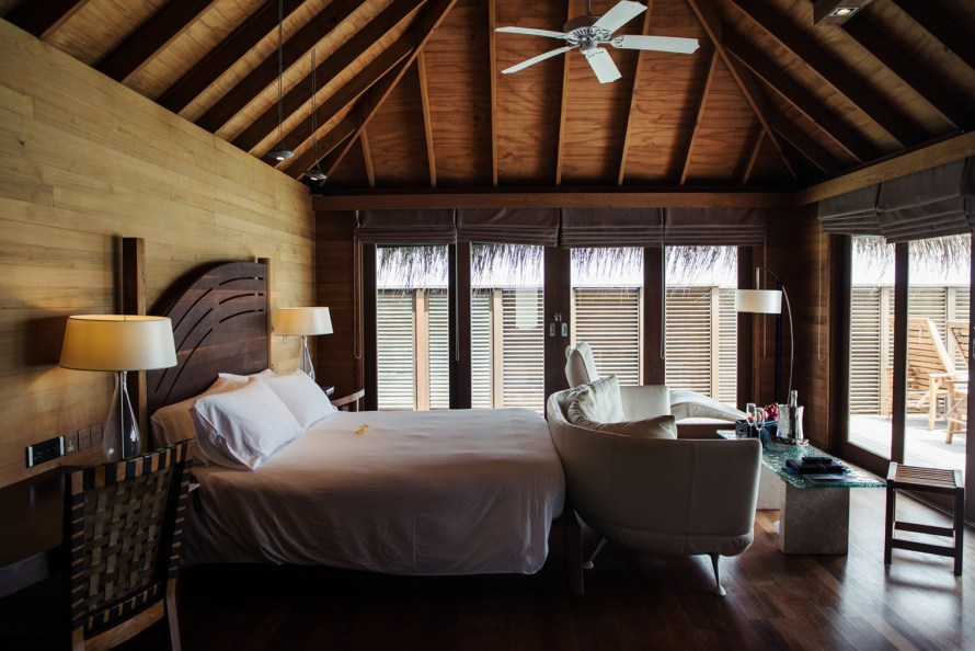 Conrad Maldives overwater villa hotel room
