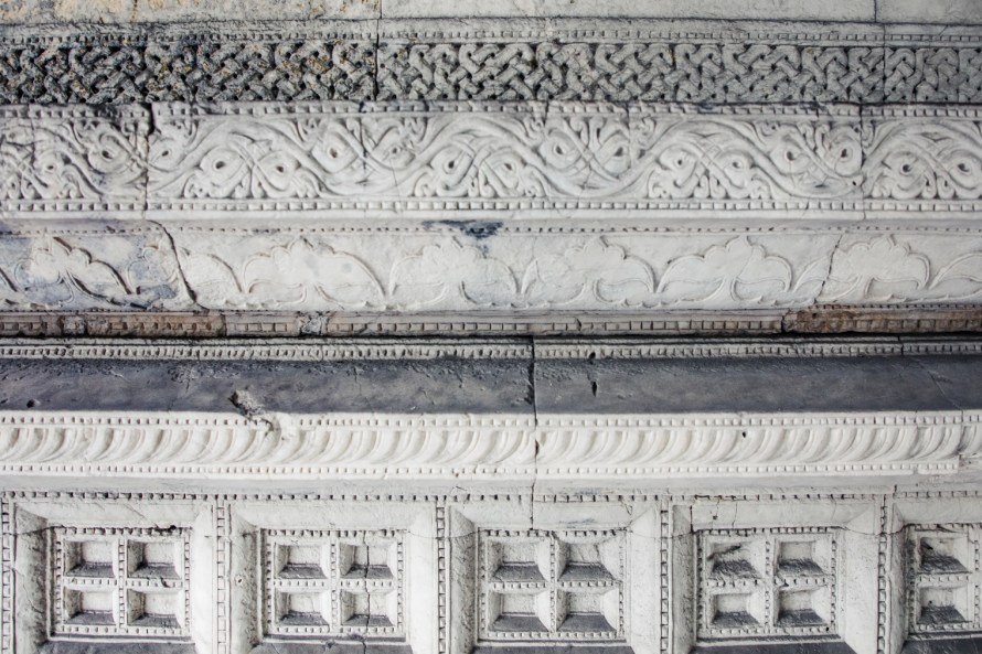 Intricate stonework details
