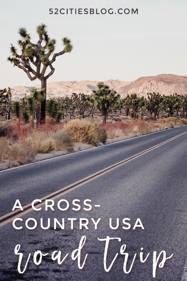 A cross-country USA road trip