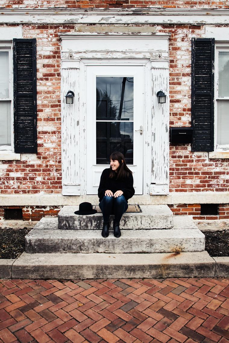 Carly on German Village stoop
