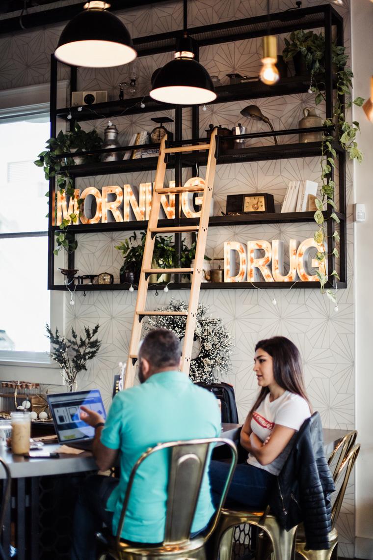 """""""Morning drug"""" light-up letters"""