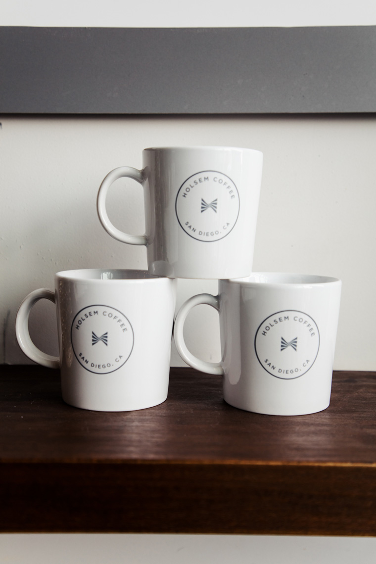 Three coffee mugs