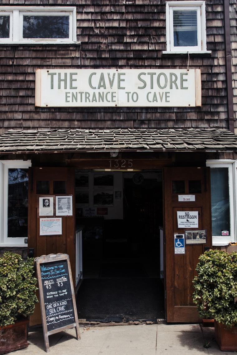 Door to sea cave