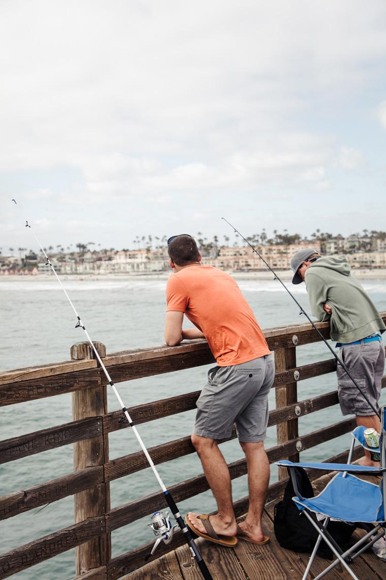 Fishermen on the boardwalk
