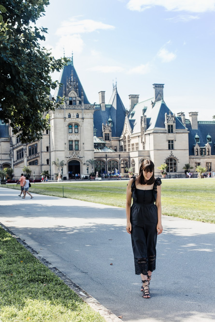 Carly in front of Biltmore Estate, Asheville