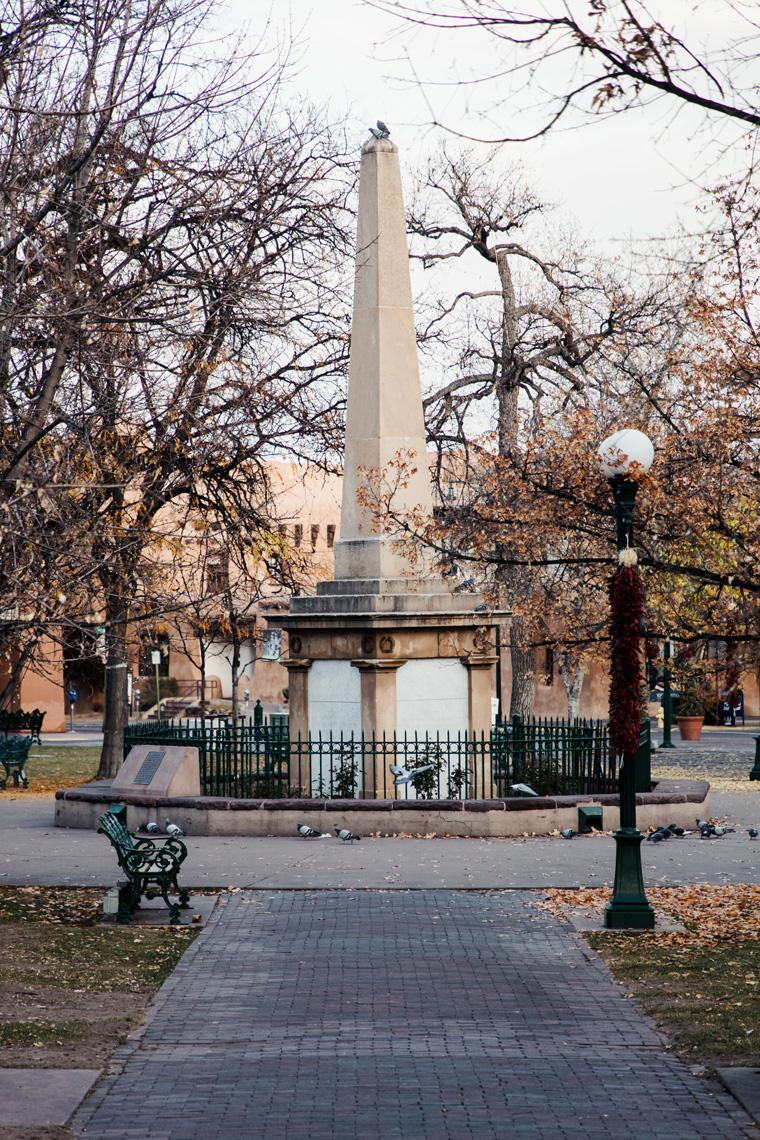 Santa Fe Plaza obelisk