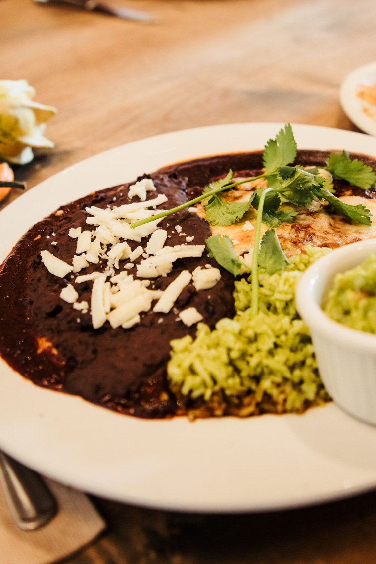 Cafe Pasqual's enchiladas